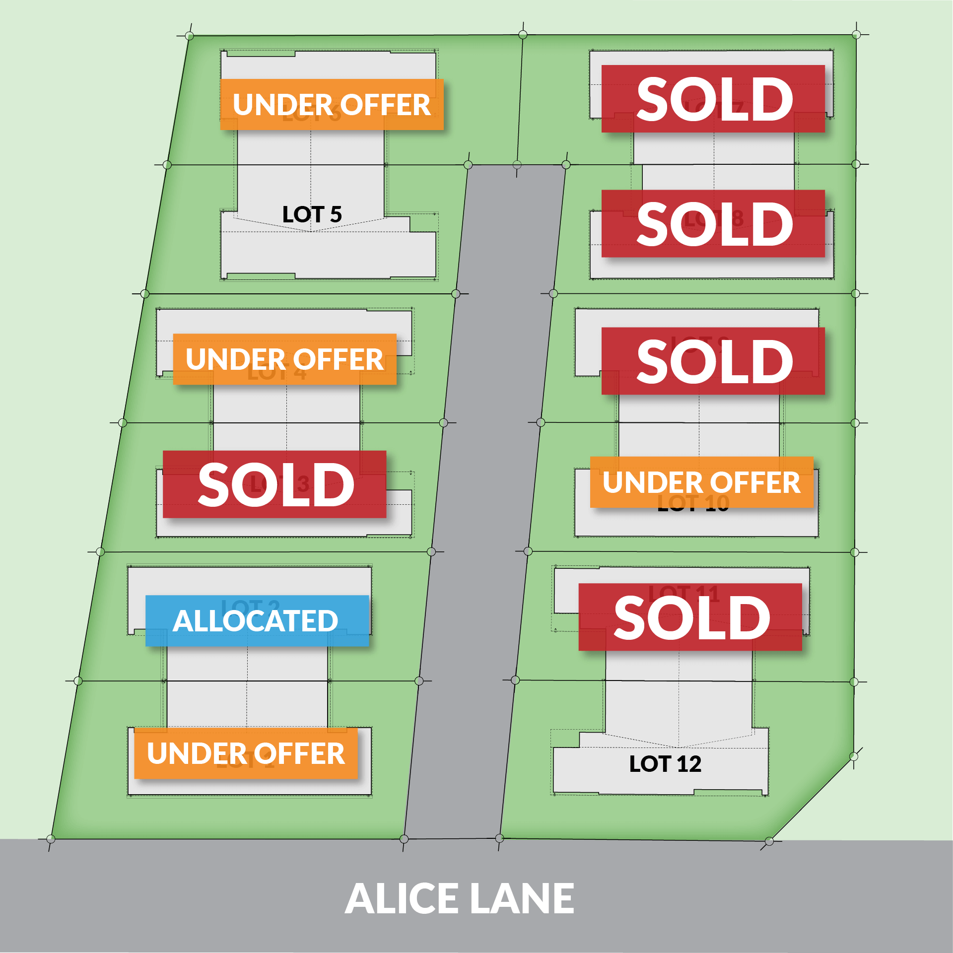 Alice Lane, Papamoa - Site Map